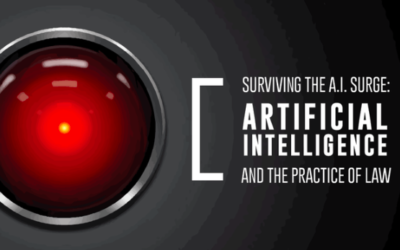 "2018 South Carolina Law Review symposium, ""Surviving the A.I. Surge: Artificial Intelligence and the Practice of Law featuted image"