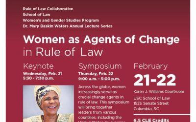 Livestream: Women as Agents of Change in the Rule of Law featuted image