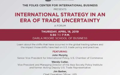 Sonoco International Business Department, Folks Center, U.S. Chamber of Commerce, South Carolina Chamber of Commerce to Host Forum on International Strategy in an Era of Trade Uncertainty featuted image