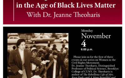 Nov. 4: The Center for Civil Rights History and Research to Host Dr. Jeanne Theoharis featuted image